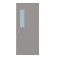 "CU1818-3068-SVL627 - 3'-0"" x 6'-8"" Curries Hinge Commercial Hollow Metal Steel Door with 6"" x 27"" Low Profile Beveled Vision Lite Kit, 86 Mortise Edge Prep, 18 Gauge, Polystyrene Core"