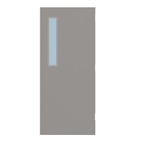 "CU1824-3068-SVL535 - 3'-0"" x 6'-8"" Curries Hinge Commercial Hollow Metal Steel Door with 5"" x 35"" Low Profile Beveled Vision Lite Kit, Blank Edge with Reinforcement, 18 Gauge, Polystyrene Core"