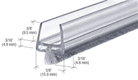 Clear Polycarbonate Wipe With Pile Weatherstrip
