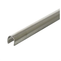 "Prime Line D 1579 - Sliding Door Repair Track, 1/4"" X 8', Stainless Steel"