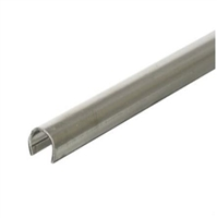 "Prime Line D 1583 - Sliding Door Repair Track, 1/4"" X 6', Stainless Steel"