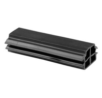 Prime Line D 1792 Sliding Door Bumber, Black Rubber,(Pack Of 2)