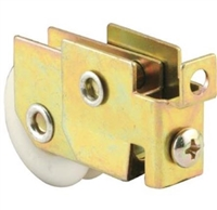 Prime Line D 1936 Sliding Door Roller Assembly With 1-1/4-Inch Nylon Ball Bearing, Gold Zinc, 1-Pack