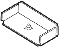 Don Jo Dcb-280-Steel, Dust Cover Box/Frame Hinge, Steel Finish