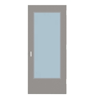 "DE1818-3068-SVL2464 - 3'-0"" x 6'-8"" Dean Steel / Mesker Hinge Commercial Hollow Metal Steel Door with 24"" x 64"" Low Profile Beveled Vision Lite Kit, 86 Mortise Edge Prep, 18 Gauge, Polystyrene Core"