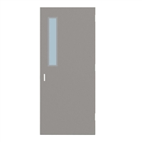 "DE1818-3068-SVL535 - 3'-0"" x 6'-8"" Dean Steel / Mesker Hinge Commercial Hollow Metal Steel Door with 5"" x 35"" Low Profile Beveled Vision Lite Kit, 86 Mortise Edge Prep, 18 Gauge, Polystyrene Core"