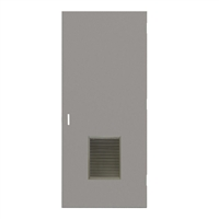 "DE1818-3068-VLV1218 - 3'-0"" x 6'-8"" Dean Steel / Mesker Hinge Commercial Hollow Metal Steel Door with 12"" x 18"" Inverted Y Blade Louver Kit, 86 Mortise Edge Prep, 18 Gauge, Polystyrene Core"