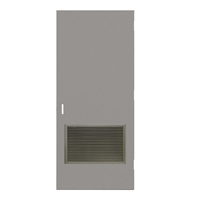"DE1818-3068-VLV2418 - 3'-0"" x 6'-8"" Dean Steel / Mesker Hinge Commercial Hollow Metal Steel Door with 24"" x 18"" Inverted Y Blade Louver Kit, 86 Mortise Edge Prep, 18 Gauge, Polystyrene Core"