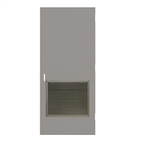 "DE1818-3068-VLV2424 - 3'-0"" x 6'-8"" Dean Steel / Mesker Hinge Commercial Hollow Metal Steel Door with 24"" x 24"" Inverted Y Blade Louver Kit, 86 Mortise Edge Prep, 18 Gauge, Polystyrene Core"