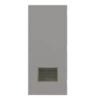 "DE1824-3068-VLV1812 - 3'-0"" x 6'-8"" Dean Steel / Mesker Hinge Commercial Hollow Metal Steel Door with 18"" x 12"" Inverted Y Blade Louver Kit, Blank Edge with Reinforcement, 18 Gauge, Polystyrene Core"