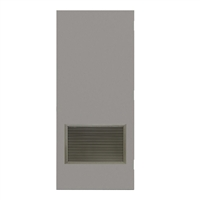 "DE1824-3068-VLV2418 - 3'-0"" x 6'-8"" Dean Steel / Mesker Hinge Commercial Hollow Metal Steel Door with 24"" x 18"" Inverted Y Blade Louver Kit, Blank Edge with Reinforcement, 18 Gauge, Polystyrene Core"