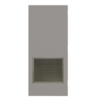 "DE1824-3068-VLV2424 - 3'-0"" x 6'-8"" Dean Steel / Mesker Hinge Commercial Hollow Metal Steel Door with 24"" x 24"" Inverted Y Blade Louver Kit, Blank Edge with Reinforcement, 18 Gauge, Polystyrene Core"