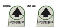 "ADH Select Commercial Automatic Sliding or Swinging Door ""Automatic Door Keep Moving"" Double Sided Decal Sticker, ANSI and ADA Compliant"