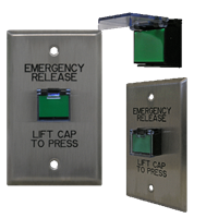 Deltrex 130 - Intermediate Level Non-Illuminated Square Or Rectangular Push Button, Mounted On A Aluminum Plate.