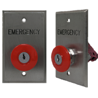 Deltrex 142-Rbkr - Emergency Self-Latching Red Push Button