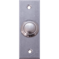 Deltrex 184 - Miniature Aluminum Push Button Mounted On A Narrow Back Plate.