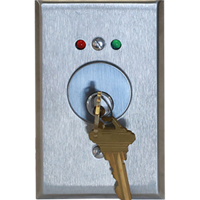 Deltrex 241 - Mortise Cylinder Key Switch Mounted On A Heavy Duty Aluminum Plate.