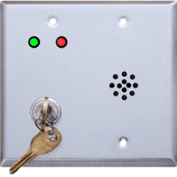 Deltrex D222 - Door Violation Alarm Key Switch Mounted On A Double-Gangle Back Plate