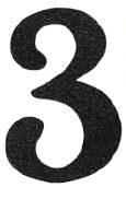 Magnetic House Numbers, Individual Black