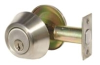 Global Door Controls Dl-Db251-Us3 200 Series Grade-3, Single Cylinder, Us3 Bright Brass Finish