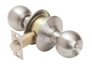 Global Door Controls Dl-Ecb80-Us3 Ecb Series Grade 3 Knob, Storeroom Lockset, Us3 Bright Brass