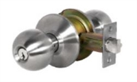 Global Door Controls Dl-Svb53-Us32D Svb Series Commercial Grade 2 Knob, Entrance Lockset Stainless Steel, Us32D Satin Stainless Steel Finish