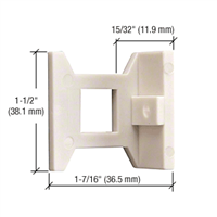 Extended Hole Flush Bolt Nylon Guide