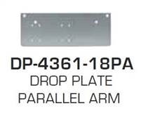 Global Door Controls Dp-4361-18Pa: Drop Plate - Parallel Arm