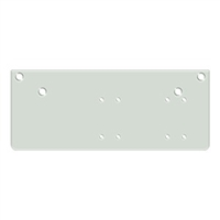 Deltana Drop Plate For Dc40 - Parallel Arm Installation, White Finish