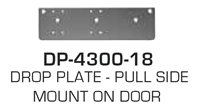 Global Door Controls Dp4300-18: Drop Plate - Pull Side Mount On Door