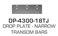 Global Door Controls Dp4300-18Tj: Drop Plate - Narrow Transom Bars