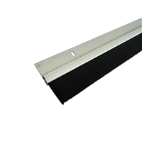 "ADH Select Commercial Automatic Sliding or Swinging Door Surface Mount Silver Bottom Brush Sweep For 48"" Wide Door Panel"