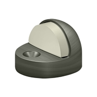 Deltana Dshp916U15A - Dome Stop High Profile, Solid Brass - Antique Nickel Finish