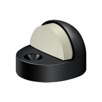 Deltana Dshp916U19 - Dome Stop High Profile, Solid Brass - Paint Black Finish