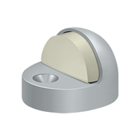 Deltana Dshp916U26D - Dome Stop High Profile, Solid Brass - Brushed Chrome Finish