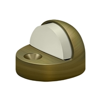 Deltana Dshp916U5 - Dome Stop High Profile, Solid Brass - Antique Brass Finish