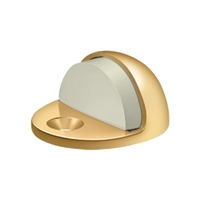 Deltana Dslp316Cr003 - Dome Stop Low Profile, Solid Brass - Pvd Polished Brass Finish