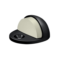 Deltana Dslp316U19 - Dome Stop Low Profile, Solid Brass - Paint Black Finish