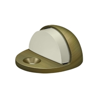 Deltana Dslp316U5 - Dome Stop Low Profile, Solid Brass - Antique Brass Finish