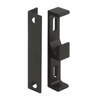 Prime Line E 2047 Sliding Door Keeper With Bracket, Black Diecast