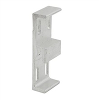 Prime Line E 2048 Extruded Aluminum Sliding Door Keeper, 1-1/16