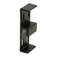 Prime Line E 2049 1-1/16 Wide Extruded Aluminum Sliding Door Keeper, Black