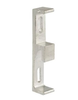 Prime Line E 2094 Sliding Door Keeper With Zinc Diecast And Aluminum Finish