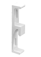 Prime Line E 2123 Extruded Aluminum Sliding Door Keeper, White