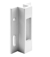 Prime Line E 2124 Sliding Door Keeper, White Extruded Aluminum