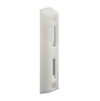 Prime Line E 2160 Sliding Door Face Mount Keeper, White