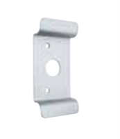 Global Door Controls Ed-Pp05-Al, Pull Plate With Cylinder Hole In Aluminum