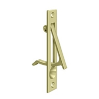"Deltana Ep475U3-Unl - Edge Pull, 4""X 3/4"" - Unlacquered Brass Finish"