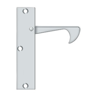 "Deltana Ept425U26 - Edge Pulls-Thin, 4 1/4""X 1""X 3/8"" - Polished Chrome Finish"