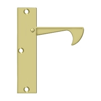 "Deltana Ept425U3 - Edge Pulls-Thin, 4 1/4""X 1""X 3/8"" - Polished Brass Finish"